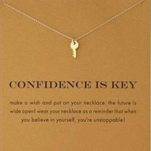 Fashion Jewelry Jewelry - New Key Pendant Necklace with Confidence Message